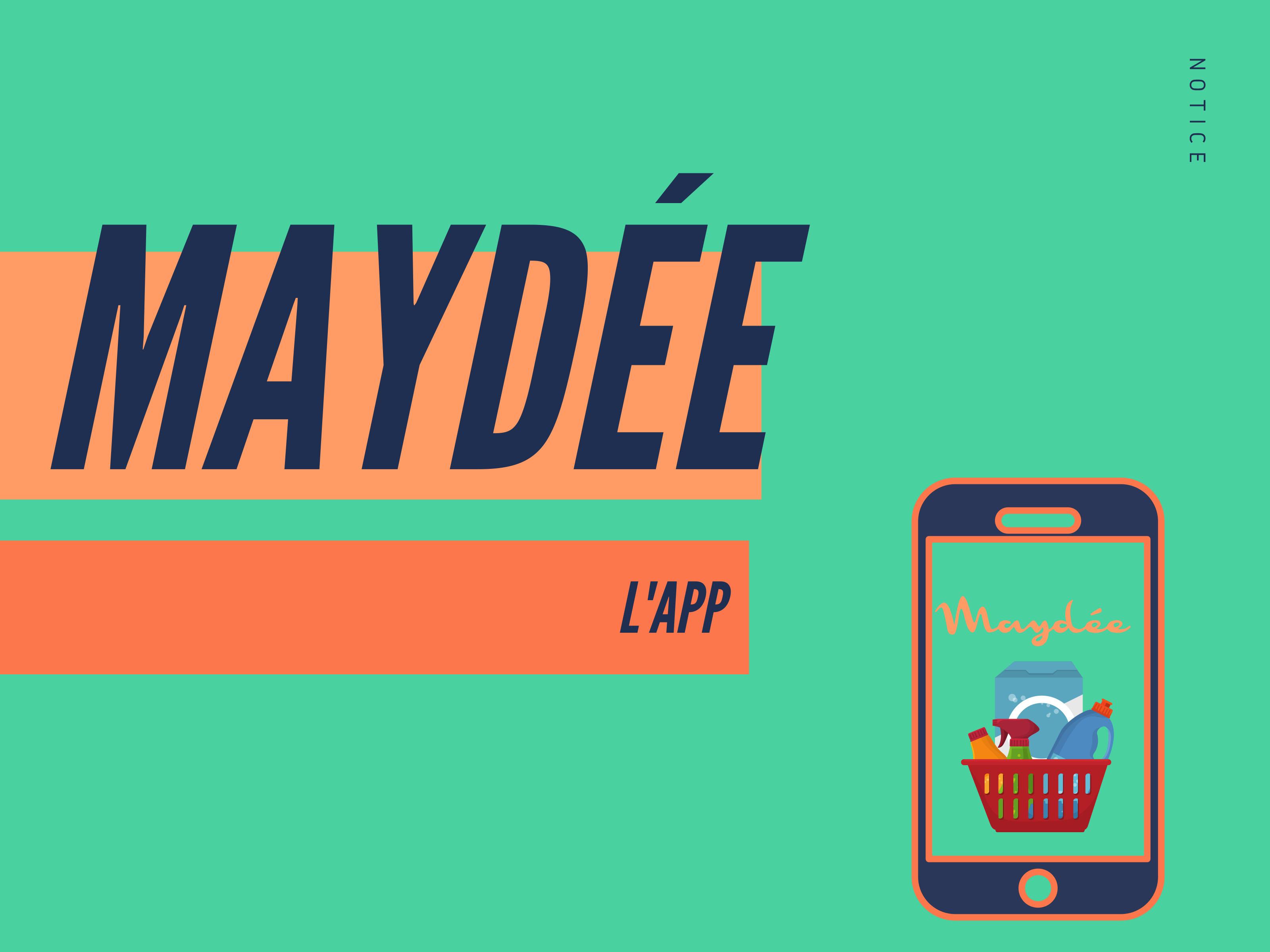 Page 1 de la plaquette de présentation de MaydéeAPP