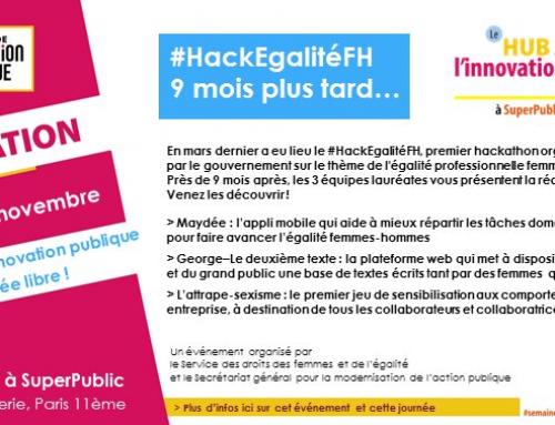 #HackEgalité, 9 mois après